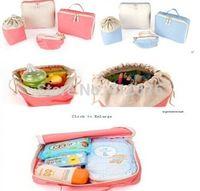 4Pcs Baby Mother Diaper Nappy Storage Bag Clothes Pouch Case Travel Organizer