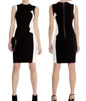[NWT] Women Zig Zag Graphic Pencil Dress Elegant Clean-cut Shift Dresses Free Shipping PLUS SIZE OL Dress