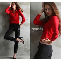 Hitz Ms. explosion models in Europe and America women's long sleeve chiffon shirt women cardigan shirt