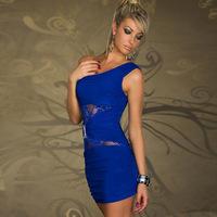 2015 New Women Sexy Summer dress tops Lace Sleeveless Bodycon Clubwear Party Evening Clubwear Slit Knot Maxi Long Sleeved Dress