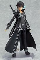 New Arrival Anime Sword Art Online kirigaya kazuto Figma Action Figure Collectible Model Toy J-0981