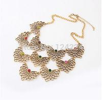 Women Fashion Crystal Pendant Chain Choker Chunky Statement Bib Necklace Nwt