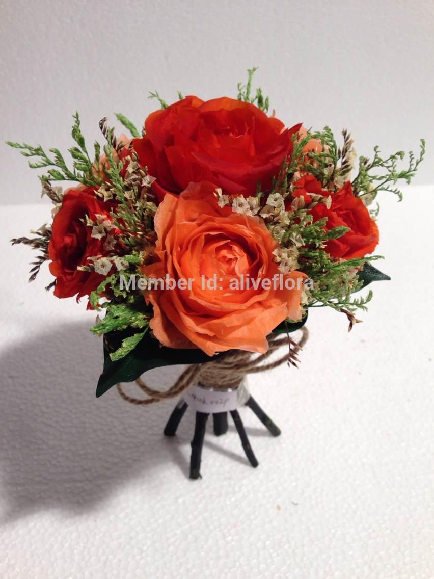 Wedding bouquet made of preservado flor(China (Mainland))