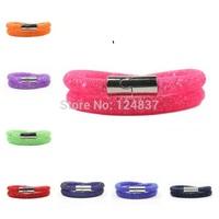 18 Colors Wholesale stardust Bracelets Full Resin Crystal Mesh Chain Bracelets Magnetic Wrap Bracelets For Christmas Gifts
