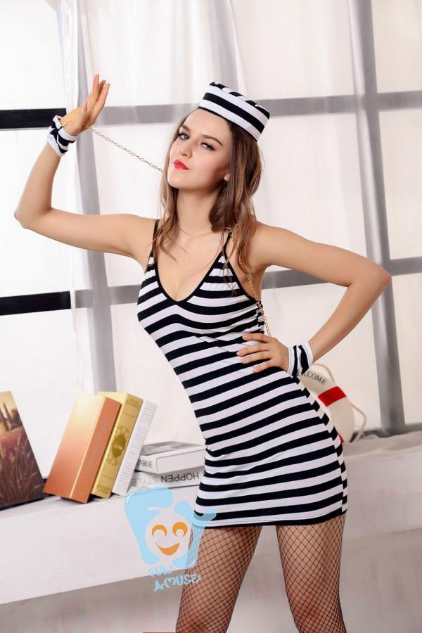 Halloween Costume Black And White Stripes Black And White Striped Female