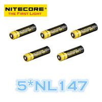 FREE SHIPPING  ORIGINAL 5 Pcs NL147 Nitecore 14500 Li-ion Rechargeable Battery 750mAh 3.7V 2.8Wh