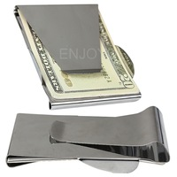 Brand New Durable Portable Double Sided Sliver Stainless Steel Money Card Credit Clip for good selling