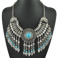 2015 Hot Sale New Fashion Vintage Boho Tassels Necklaces Punk Turkish Necklace for Women Christmas Gift