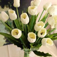 High Quality 6PCS/LOT pu 72cm tulip flower real touch wedding flower artificial flower silk flower home decoration
