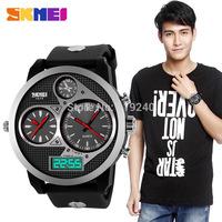 Free shipping 2015 fashion casual  Waterproof watch Men Electronic Wristwatches 6 Color