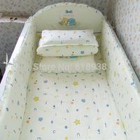 HOT 5 Pcs/sets baby bedding set 100% cotton curtain crib bumper 120*70 baby cot sets baby crib bedding  bumper