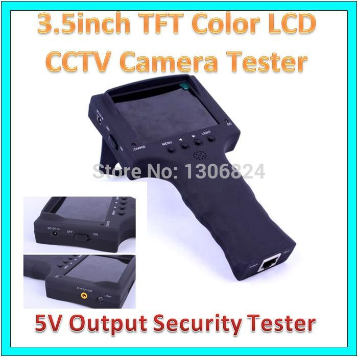 """Free Mail RJ45 Portable 3.5""""Colorful LCD Monitor CCTV Security Camera Video Test Tester Tool Engineer Closed Circuit TV Products(China (Mainland))"""