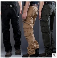 Top quality 2015 new arrive cotton men's casual straight trousers cargo pant fashion outdoor sports men walking pants camouflage