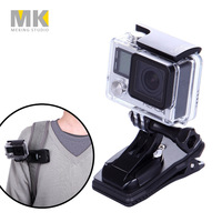 360 Rotary Quick Release Backpack clip Rucksack clamp for GoPro Hero 4 3+ 3 2 1