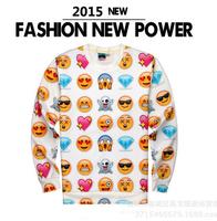 Cheap 2015 fashion Novelty Harajuku 3D print cartoon emoji clothes funny sweatshirts men/women casual sport hoodies hoody Shirt