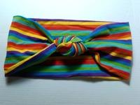 free shipping fashion kids cotton knot sewed headband, toddler size colorful stripe headband