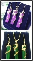 Fashion Gold Plated Dragon Pendant Earring Wholesale silver hook Fine Jewelry sets
