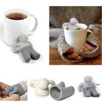 Cut Teapot Mr Tea Infuser/Tea Strainer/Coffee & Tea Sets/silicone Mr Tea 100Pcs/lot DHL Fedex Free Shipping
