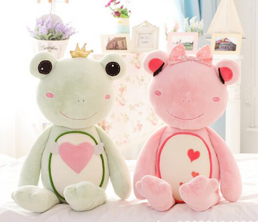 Free Shipping plush animals life size 80cm pp cotton soft stuffed frogs prince and princess girls toys two colors birthday gifts(China (Mainland))
