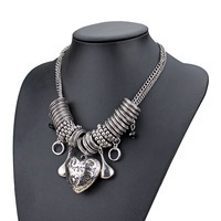 silver charm necklace fashion jewelry wholesale small heart charm necklace luck charm heart necklace for women