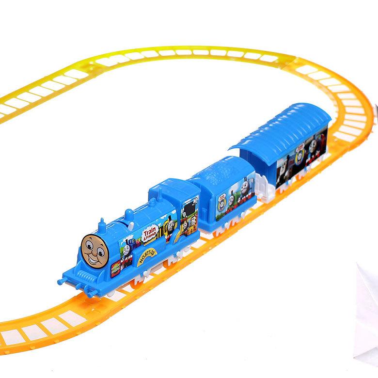 Color B Electric rail toy Set Thomas Train Track Baby Child Educational Auto Car eTrade(China (Mainland))