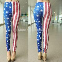 2015 New Leggings American Flag Print Women Leggings Pencil Trousers Sexy Sport Jeggings Yoga Fitness All Match Tights 3pcs/lot