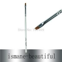 Free Shipping Wholesale 20pcs/Lot on Sale Nylon Hair Thin Wood Handle Angled Eyebrow Brush