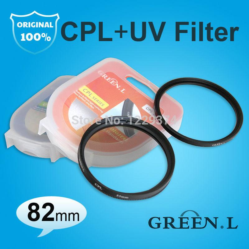 Green.L 82mm CPL C-PL C PL Circular Polarizer + Multi Coated MC-UV MCUV MC UltraViolet UV Filter Lens Protector 82 mm(China (Mainland))