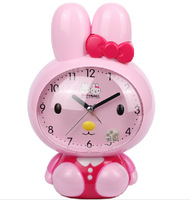 free shipping student clock alarm clock Mute alarm clock voice speaker night light slacker clock