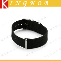 18mm Watch Strap Black Nylon Nato Watch Band 3 Brushed Rings Military Replacement Watchband Diving Bracelet for Sports Hours 18