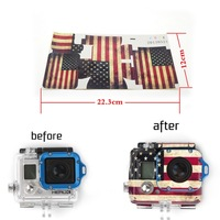 Gopro Hero 3 USA Flag Sticker Material Camera Housing Case Go Pro Accessories 2014 New Free shipping