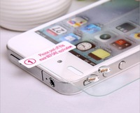 500pcs 0.33MM 2.5D 9H Round Edge For iphone 4 4s Explosion-proof Screen Tempered Glass Protector Film Guard No Retail Box