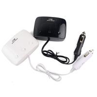 New Dual USB 3-Socket Car Cigarette Lighter Power Splitter Charge Power Adapter Converter Black Q4058Z