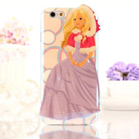 Blue Ray Barbie Doll Girl TPU Cover Case  For iPhone 6 4.7