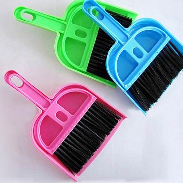 Desk Table Top Keyboard Netbook Handy Cleaner Whisk Dust Pan Mini Dustpan &Brush(China (Mainland))