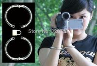 New Luxury Female Stainless Steel Slave Wrist Restraint Manacle with locks sex toys #1222