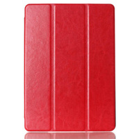 Air 2 cover case,for ipad 6 air 2 fashion leather case,crazy horse three-fold smart cover for apple ipad 6 luxury stand cases