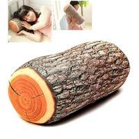 1 Pc Tache Brown Log Cylinder Microbead Soft Comfy Fun Cushion bolster Pillow#BA057