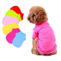Pet Puppy Dog Doggie Cute Warm Clothes Apparel Costume T Shirt Top Free Shipping and Drop Shipping