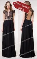 2015 New Fashion Lace Design Sexy Deep V Neck Short Sleeve Women Dress Patchwork Causal Club Party Long Dress Evening Dress
