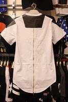 Long Back Zipper Streetwear Swag Man Hip Hop Shoulder Leather Patch Tyga T-shirt Biker T shirt Top Tees Men Clothing