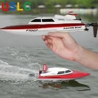Racing Boat Double Radio Remote Control RC Boats 2.4GHZ Pointless Buttons 40KM Speed Electric Toys Model Ship Children Gift