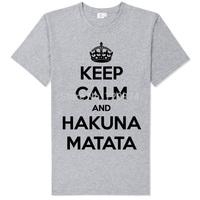 bob marley keep calm and hakana matata good quality tee shirt