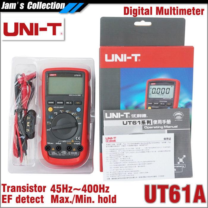 Мультиметр UNI-T UNI/t UT61A multimetro 61 EF uni uni t ut136b дешевый метр autoranging