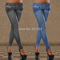 3 pcs/lot Europe Denim Leggings Thin Seamless Skinny Women Leggings Pencil Trousers Slim Jeggings Fitness Sport Leggin 2015