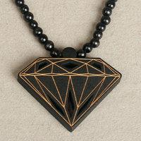 Hip-hop accessories good wood pendant hiphop trend necklace