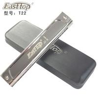 T22 basons 22 harmonica silver polysyllabic playing harmonica hardcover book bag