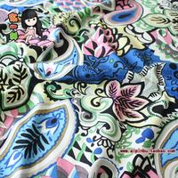 Cloth patchwork cotton cloth paisley blue flower 145cm print cotton cloth