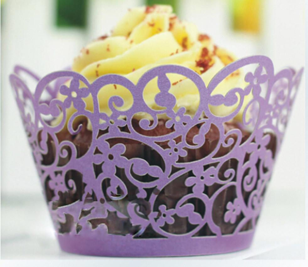 Аксессуары для праздника Wedding cupcake wrappers 1Set/12 g084/2/c G084-2
