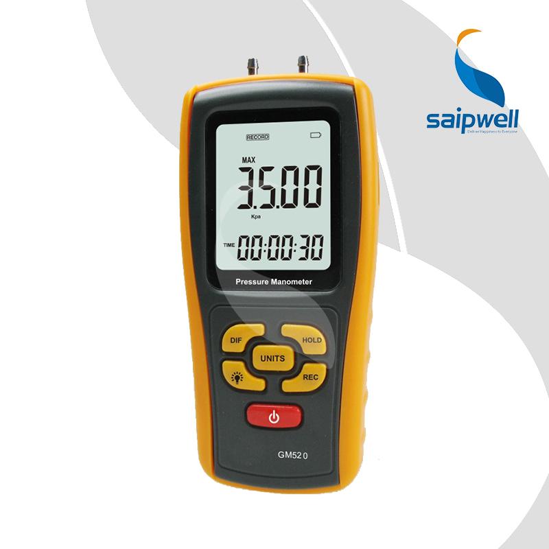 SPM520 LCD Display Pressure Manometer(Yellow)Air Pressure Gauge Meter Manometer Tester Tool(China (Mainland))